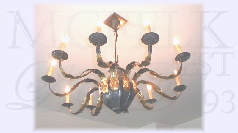 1700 10 Arm Candle Chandelier