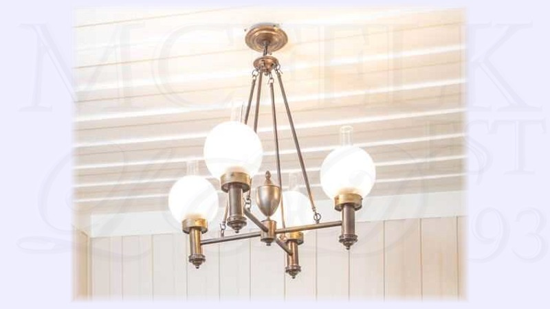1850-1870 Argand Oil Ceiling Mounted Chandelier