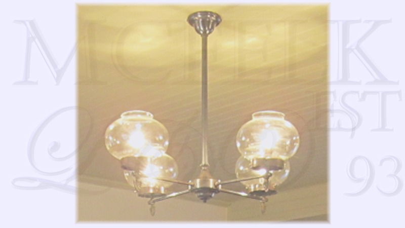 1880 Carbide Gas Ceiling Mounted Chandelier