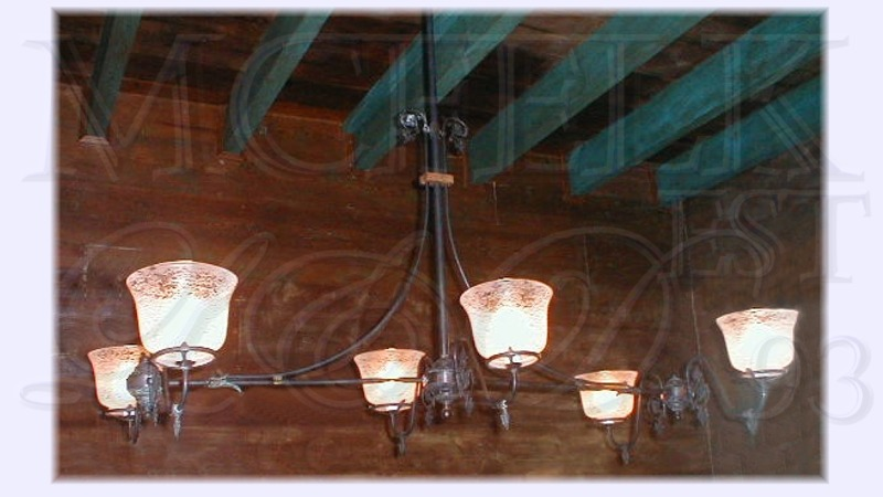 1890 Gasolier Ceiling Mounted Chand