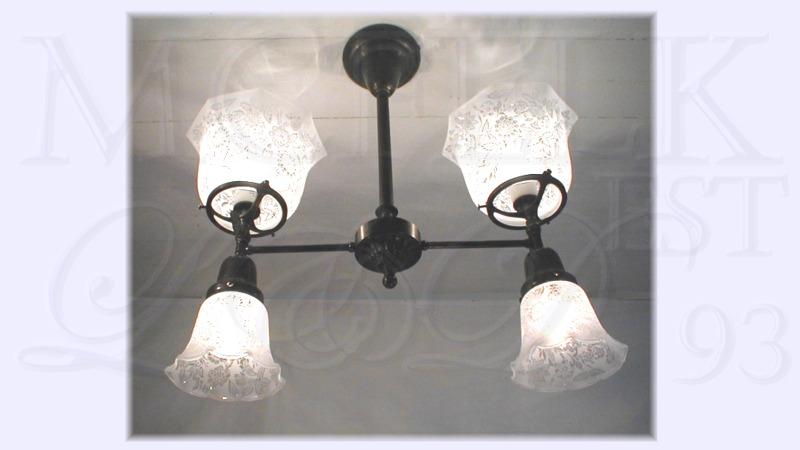 1900 Edison-Electrolier Ceiling Flush Mounted