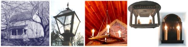 Custom chandeliers sconces post lanterns bethania cornwallis house