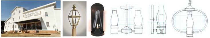 Custom sconces post lighting bethania mill