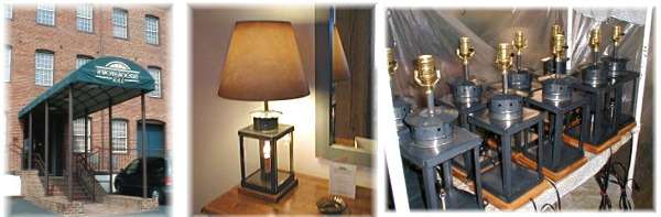 Table Lamps produced for the Historic-Brookstown-Inn