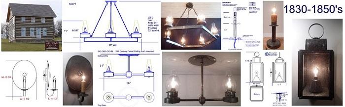 Custom chandelier sconces lanterns Mennonite Heritage Center Harrisonburg VA