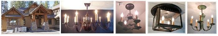 Custom ceiling chandeliers private residence pinnacle nc