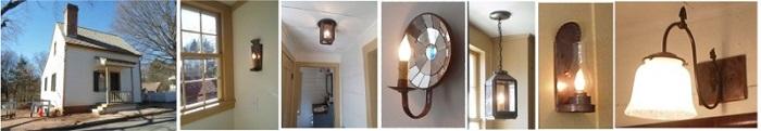 Custom wall ceiling sconces lanterns salt flax home shop Old Salem NC